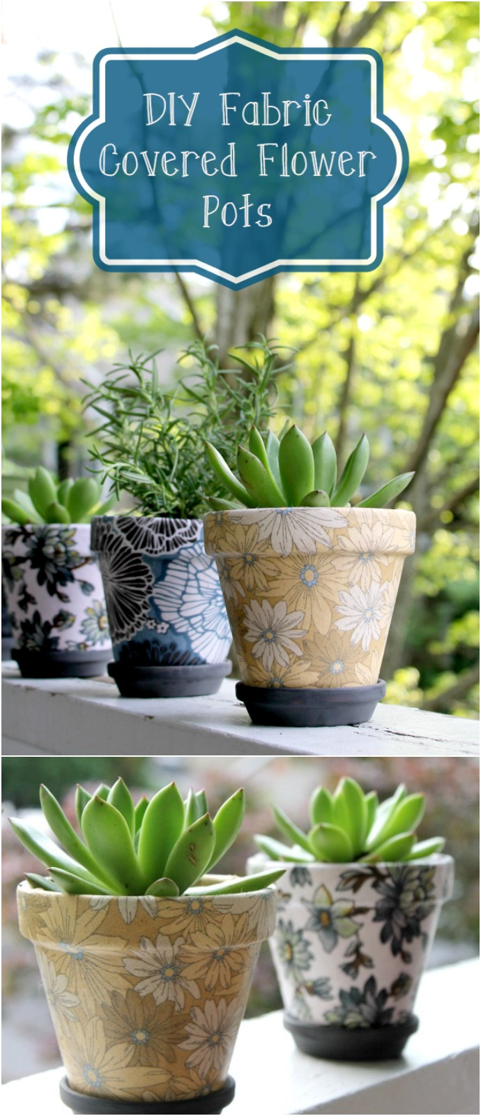 Easy To Make Diy Fabric Covered Flower Pots