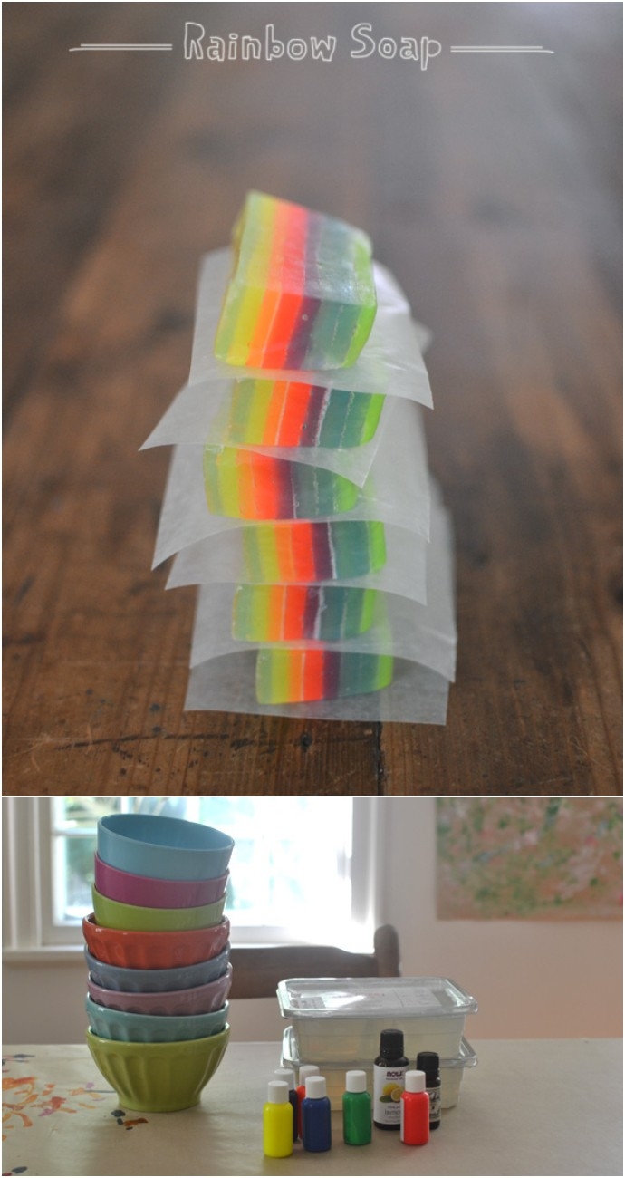 Homemade Rainbow Soap With Kids
