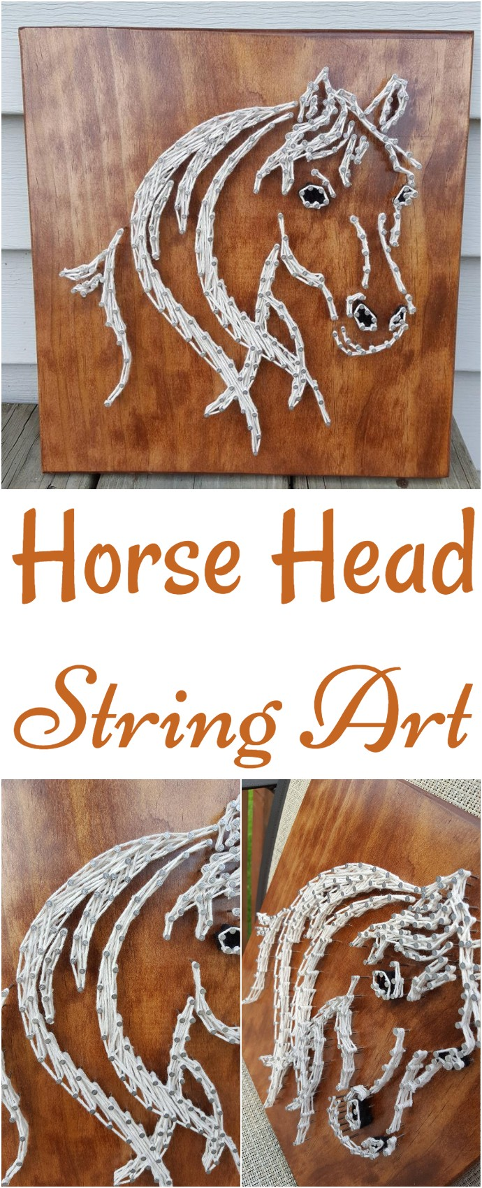 Horse Head String Art