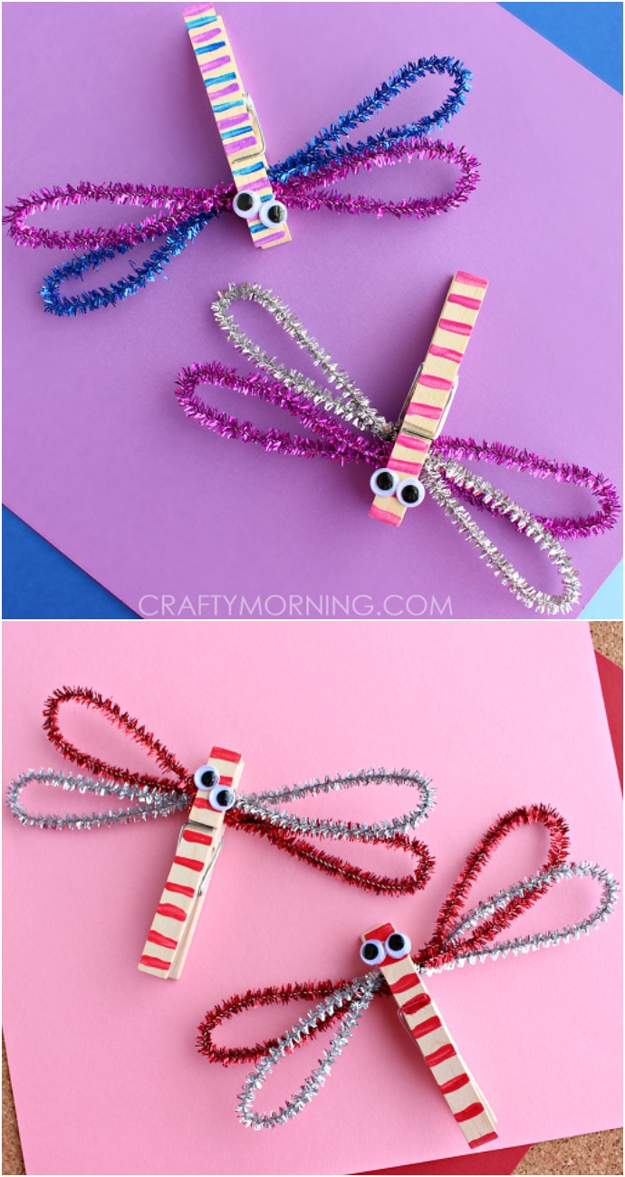 How To Make Clothespin Dragonflies Kids Craft