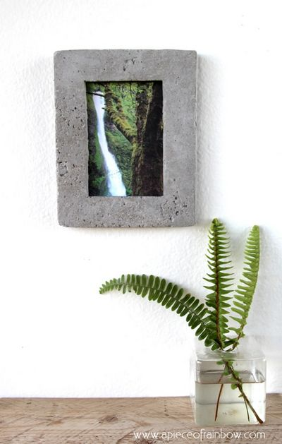 How To Make DIY Concrete Picture Frame