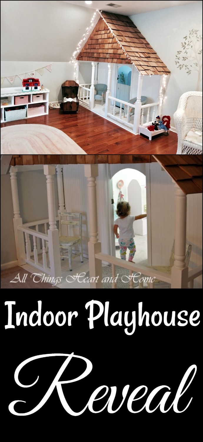 Indoor Reveal house for kids