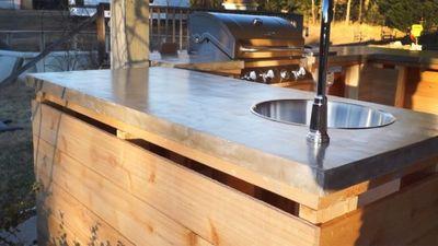 Make A DIY Budget Friendly Concrete Countertops