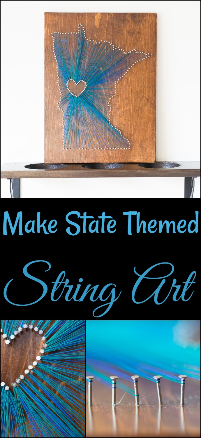 Make State Themed String Art