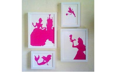 Nursery Silhouette Artwork DIY Craft