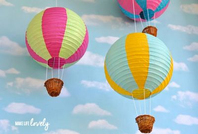 Paper Lantern Hot Air Balloons Craft Idea
