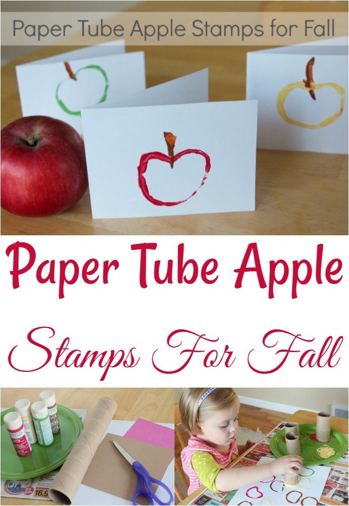 Paper Tube Apple Stamps For Fall