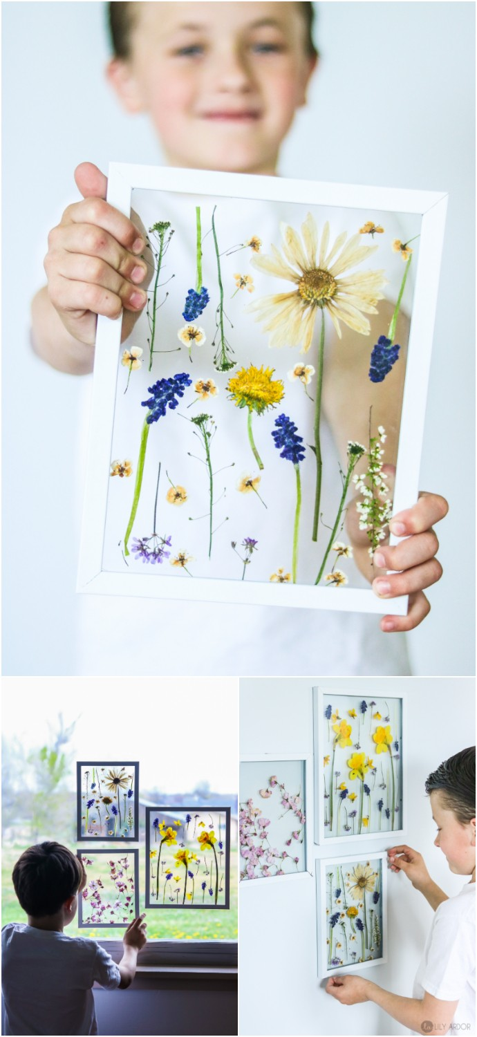 Pressed Flowers Mother's Day Craft Idea