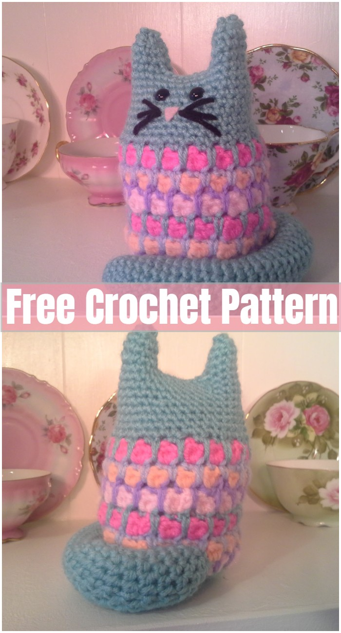 Stained Glass Cat Crochet Pattern