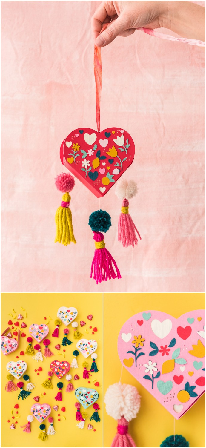 Valentine Tassel Heart Favor Box