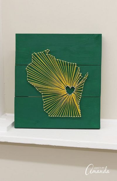 Wisconsin State DIY String Art Idea