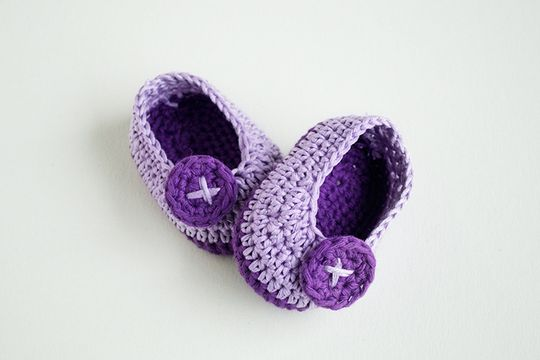 Crochet Baby Butterfly Shoes