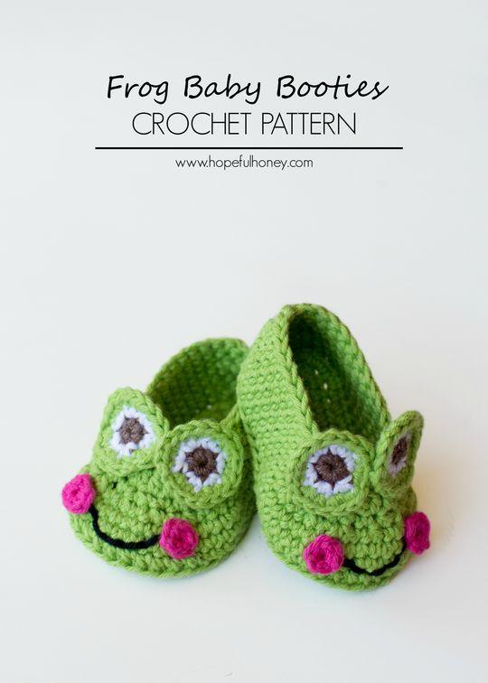 Crochet Baby Frog Booties