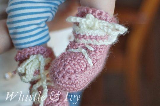 Crochet Baby Moccasin Booties