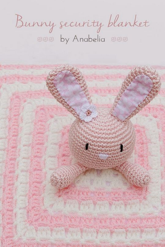 Crochet Free Bunny Security Blanket Pattern