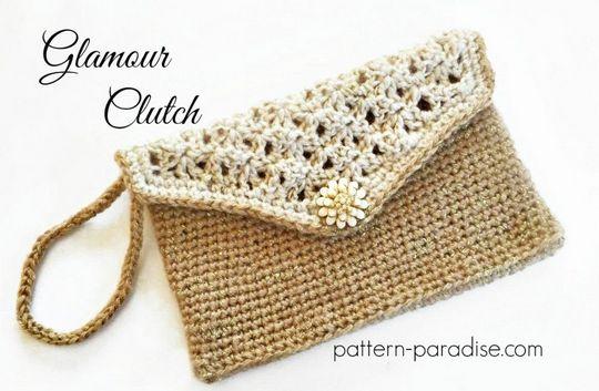 Crochet Glamour Clutch Free Pattern