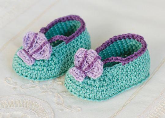 Crochet Mermaid Baby Booties