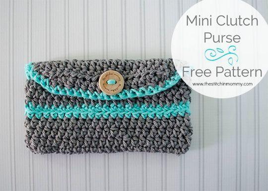 Crochet Mini Clutch Purse