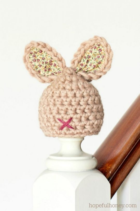 Crochet Newborn Bunny Hat