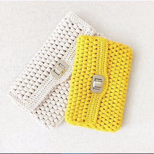 Crochet Puff Clutch Free Pattern