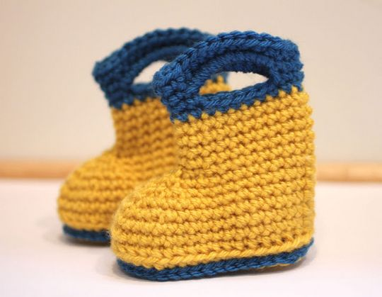 Crochet Rain Baby Boots