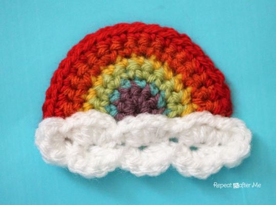 Crochet Rainbow Applique