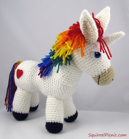 Crochet Rainbow Donkey Pattern