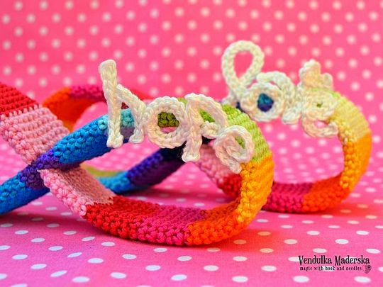 Crochet Rainbow Of Hope And Love Pattern