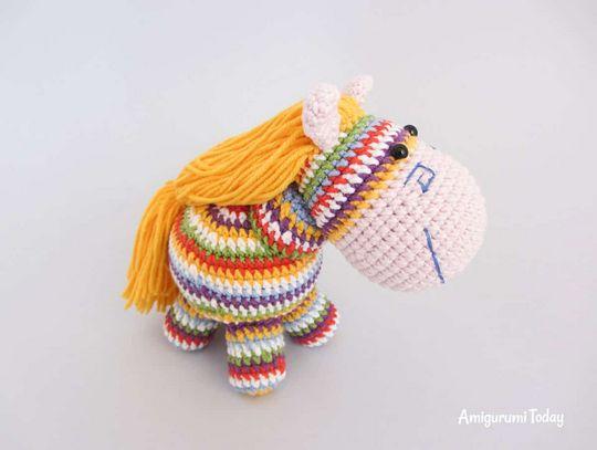 Crochet Rainbow Pony Amigurumi