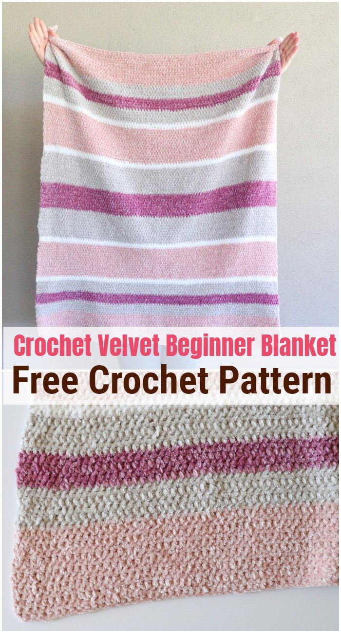 Crochet Velvet Beginner Blanket