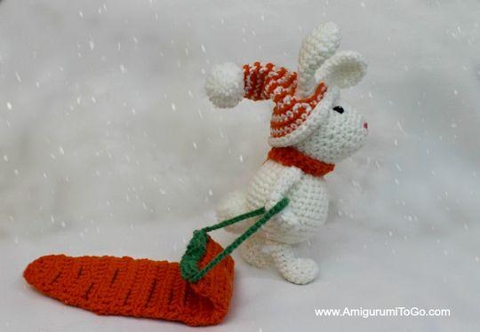 Crochet Winter Bunny Amigurumi