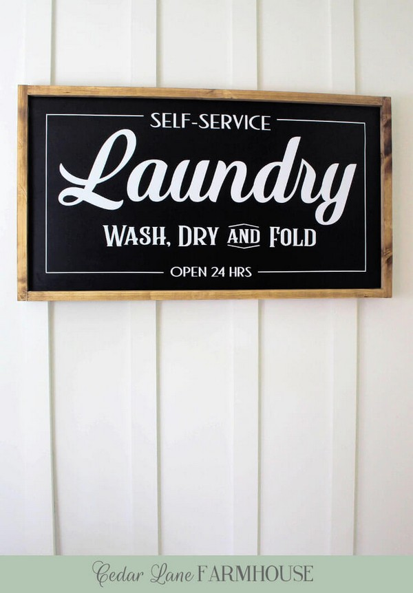 DIY Farmhouse Laundry Sign