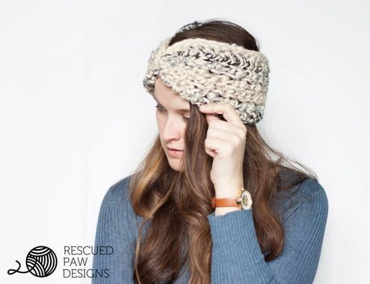 Easy Ear Warmer Chunky Crochet Pattern
