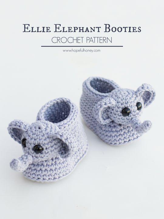 Ellie The Elephant Baby Booties