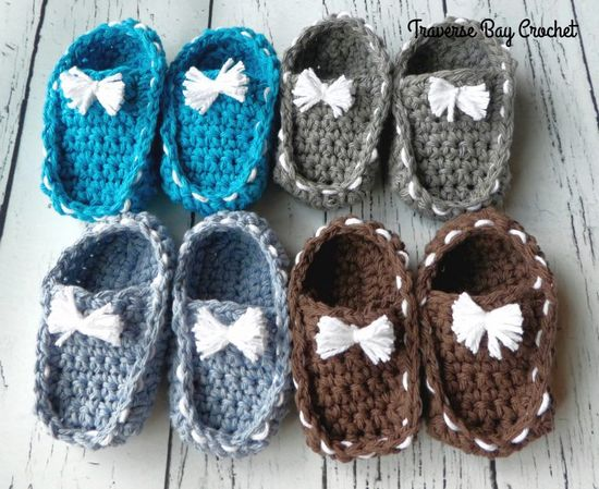Free Crochet Baby Loafer Booties Pattern