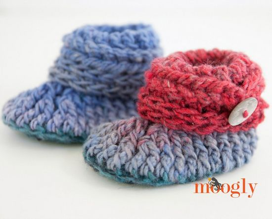 Free Crochet Ups And Downs Baby Booties Pattern