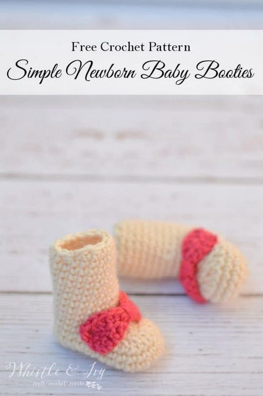 Newbron Bow Baby Booties