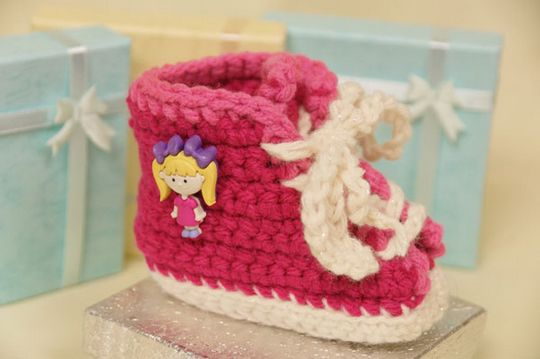Super Soft Crochet Baby Sneakers