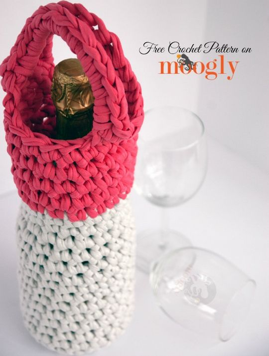 Crochet Champagne Carrier for Girls