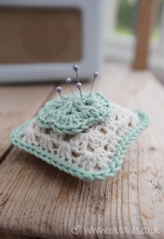 Crochet Granny Square Pincushion