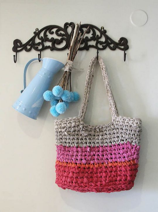 Crochet Rag Bag From Sheets Pattern