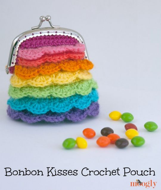 Crochet Rainbow Pouch For Kids