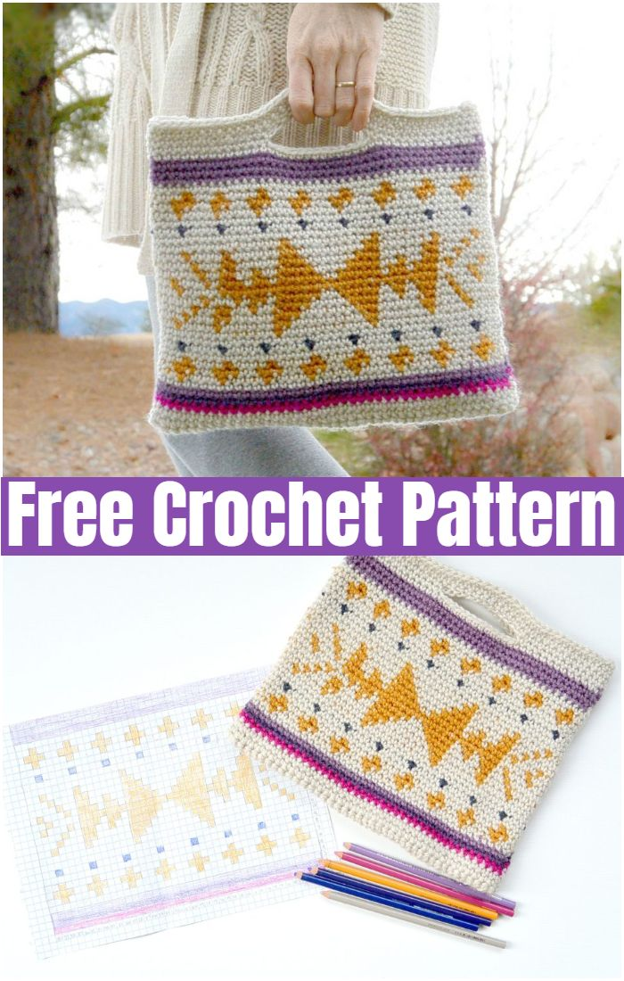 Crocheted Southwest Tote
