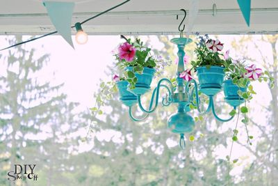 DIY Chandelier Planter Tutorial