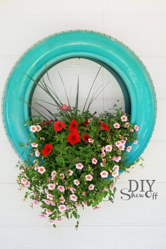 DIY Tire Flower Planter Projects