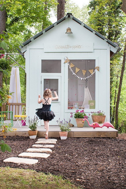 Dreamy Kids' Playhouses In The Backyard
