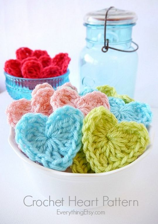 Easy Crochet Heart Patter