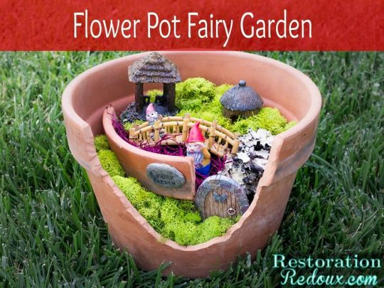 Fairy Garden In A Pot: