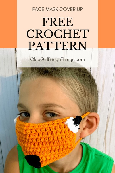 Fox Face Mask Cover Up – Free Crochet Pattern