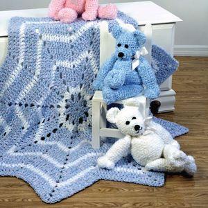 Free Crochet Teddy Bear Round Blanket Pattern